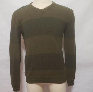 Levis Men's Green Sweater V Neck Size Medium